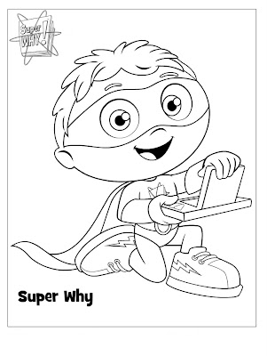 This is a picture of Fabulous Super Why Coloring Book