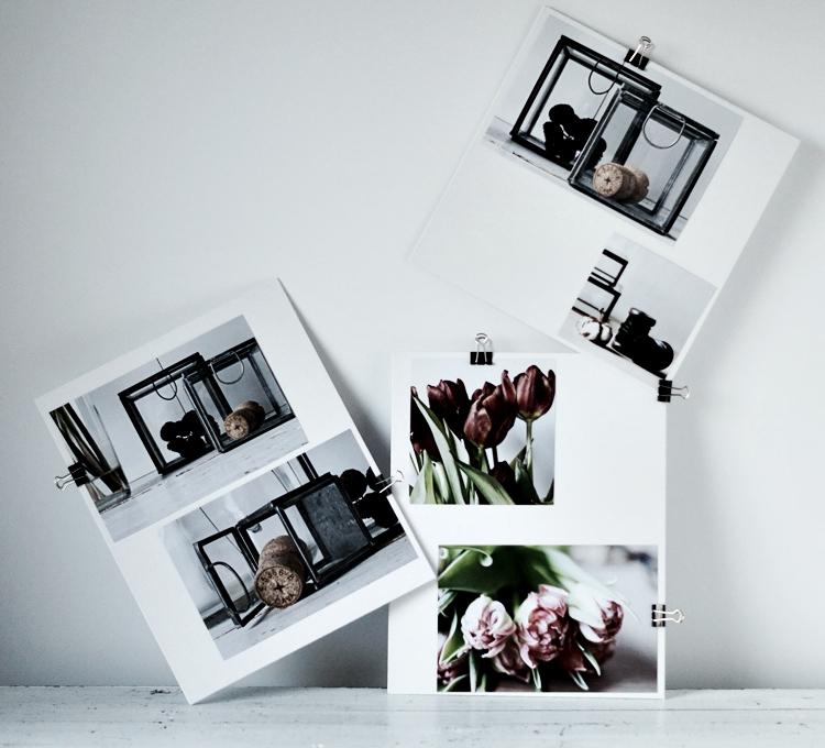 Bilder mit MaskingTape und Metallclips befestigt { by it's me! }
