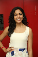 Actress Ritu Varma Stills in White Floral Short Dress at Kesava Movie Success Meet .COM 0083.JPG