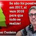 "Pesquisador Antonio Lopes Cordeiro classifica 2017 como ""ano das trevas"""
