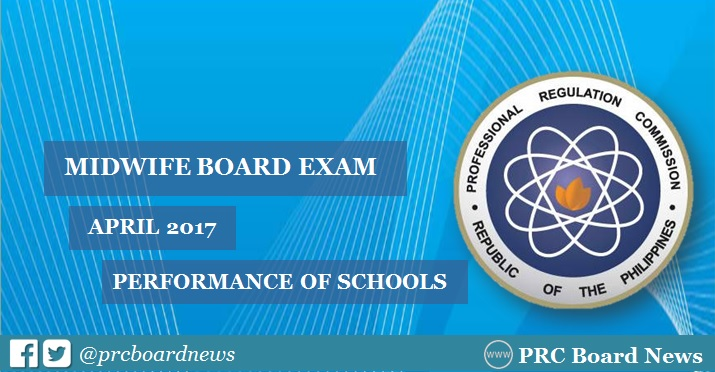 performance of schools midwife board exam April 2017