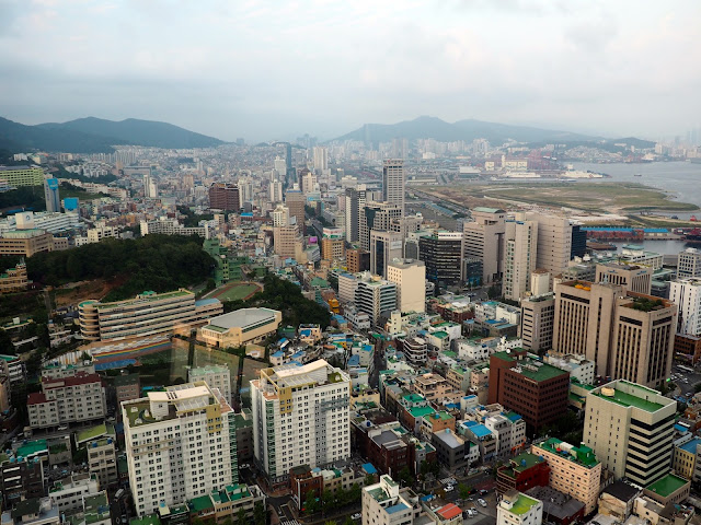 View from Busan Tower, in Nampo-dong, Busan, South Korea