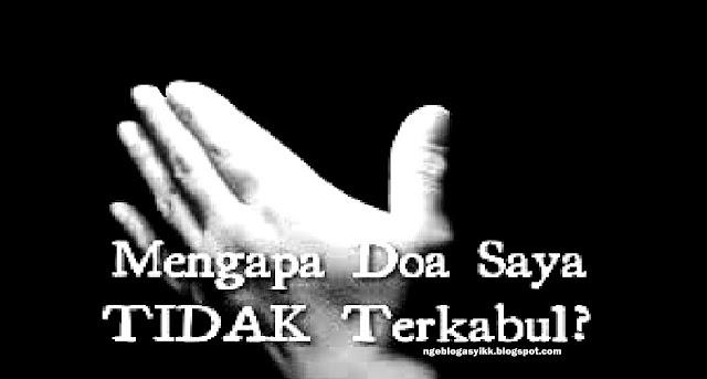 doa tiak terkabul berdoa tangan mengadah