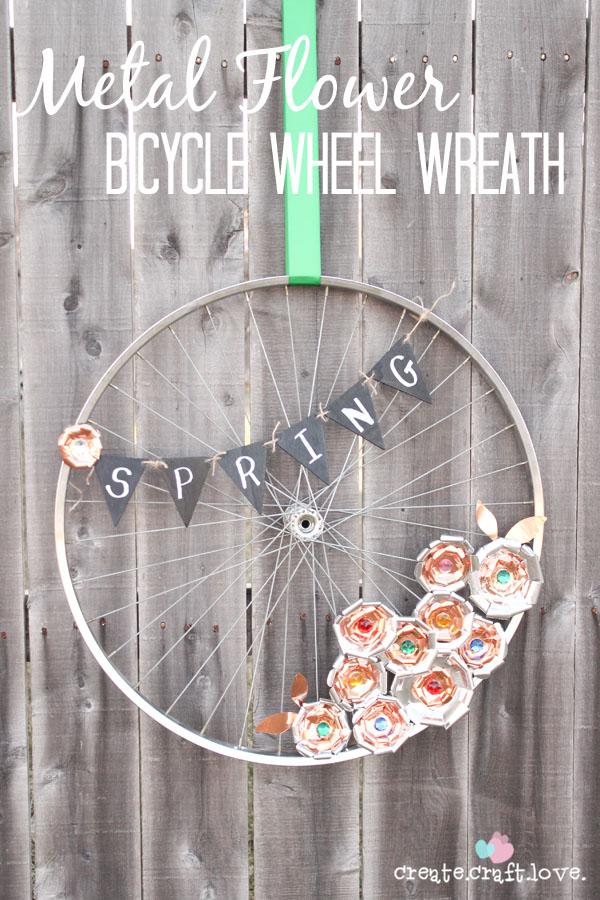 Ideas para reciclar partes de una bicicleta caf largo - Decoracion con ruedas ...