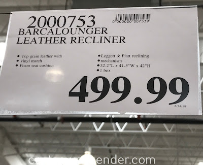 Deal for the Barcalounger Leather Reclining Chair at Costco