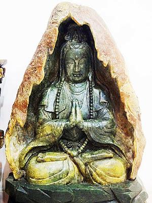 carved Chinese jade Buddha