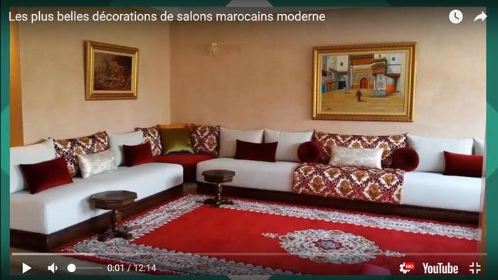Salon marocain traditionnel couleur d\'amour 2017 - Décoration Salon ...