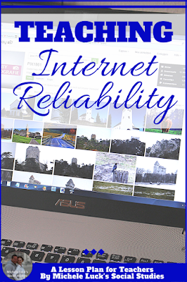 An awesome roundup of teaching resources including tips and a great freebie on internet reliability. Perfect for middle and high school students. #highschool #middleschool #teaching