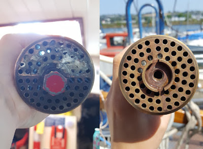 Side-by-side comparison of the heat-exchanger's tube stack
