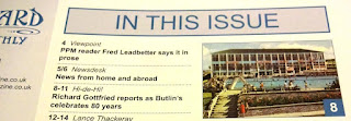 The November issue of Picture Postcard Monthly magazine has an article celebrating the 80th birthday of Butlin's