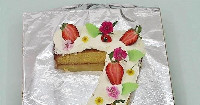 Sensational Goodyfoodies How To Make Number 7 Birthday Cake Funny Birthday Cards Online Alyptdamsfinfo