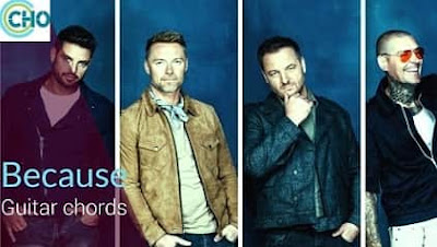 Guitar chords of BECAUSE accurate   BOYZONE   Thank You & Good Night