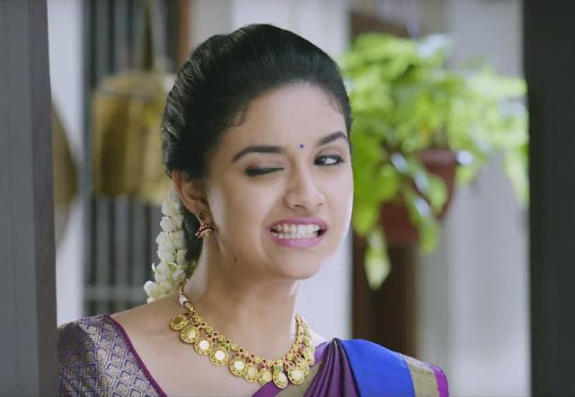 Keerthi Suresh Sexy Expression in Bairavaa Movie