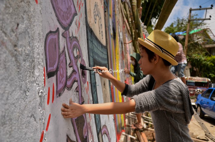 Tamawan Village Making of a Graffitti Mural Baguio City Philippines 64