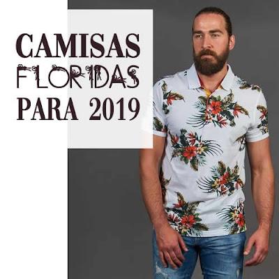 camisas floridas masculinas