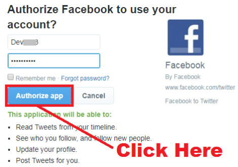 how to link facebook account to twitter account