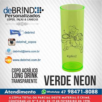 → VERDE NEON - COPOS PERSONALIZADOS - LONG DRINK
