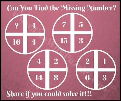 Quick math cross circle picture puzzle