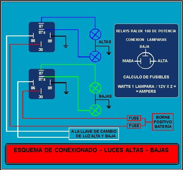 Circuitoluces on 85 86 87 30 Relay