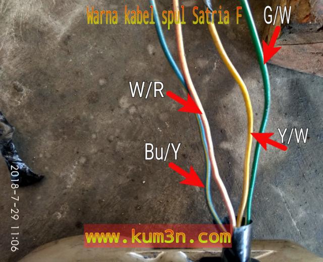 Jalur Sistem Pengapian Dan Penerangan Suzuki Satria F