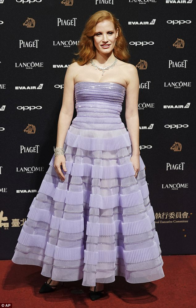 Jessica Chastain oozed elegance as she stepped out at the 54th Golden Horse Awards in Taipei