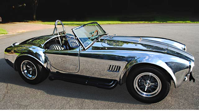 Muscle Car Collection Shelby Cobra Polished Aluminum Paint