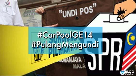 Warga Twitter Dipuji Bantu Golongan Tak Mampu Balik Mengundi Dengan Hashtag #CarPoolGE14 dan #PulangMengundi