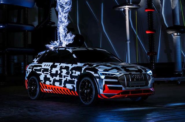 Audi e-Tron: autonomia de 400 km e recarga em 30 minutos