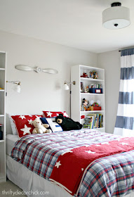 Blue and red boy room