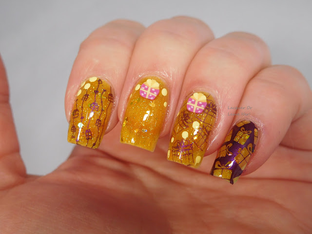 Fimo presents from Charlie's Nail Art, UberChic Beauty Christmas 02 and Lina Nail Art Supplies Can't Wait For Xmas! over Sassy Pants Polish Luster Of Midday