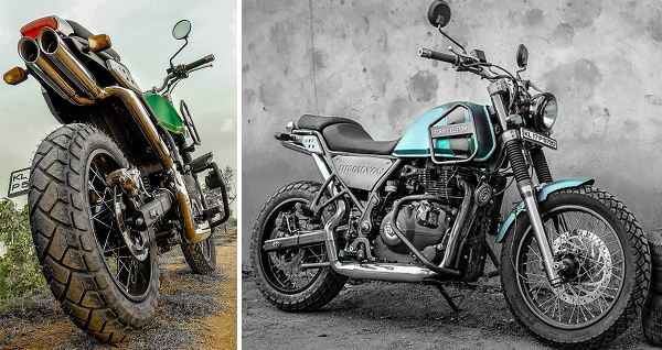 grid7 customs modified Himalayan Royal Enfield
