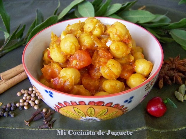 chana masala curry de garbanzos