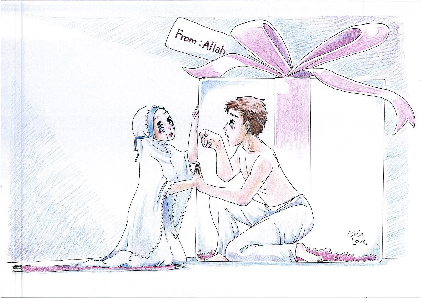 Gambar Lukisan Kartun Cinta Keren Bestkartun
