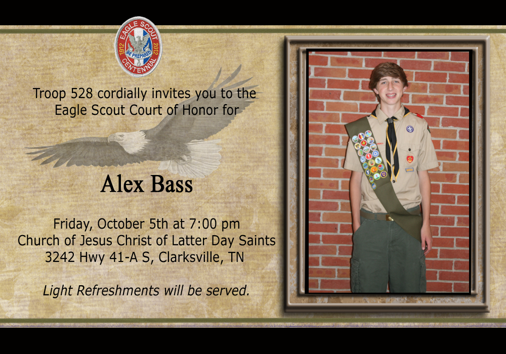 Eagle court invitations party invitations ideas for Eagle scout powerpoint template
