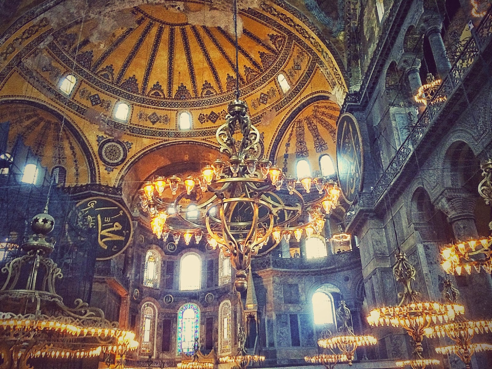 トルコのアヤソフィア・モスク