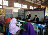 sambutan dari kepala sekolah PAUD Al-Zaytun Ustazah Mar'atu Soleha, S.Pd.I.