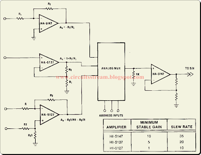 Best Buffer Amplifier for Multiplexers Circuit Diagram