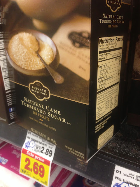 Natural Cane Turbinado Sugar, 100 Packets, Private Selection - Kroger