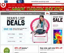 Target coupons april