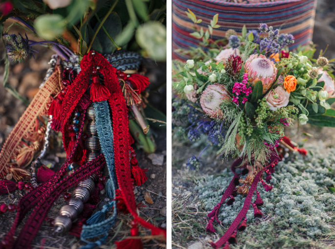 Boho flowers / Montana wedding / Kacie Q. Photography / Styling + Flowers: Katalin Green