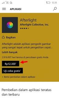 Cara Membeli Aplikasi di Windows Store dengan Pulsa