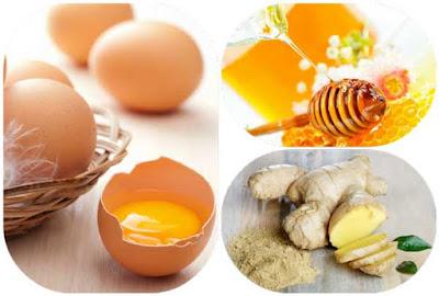 Cách tăng cân từ mật ong, trứng gà và gừng