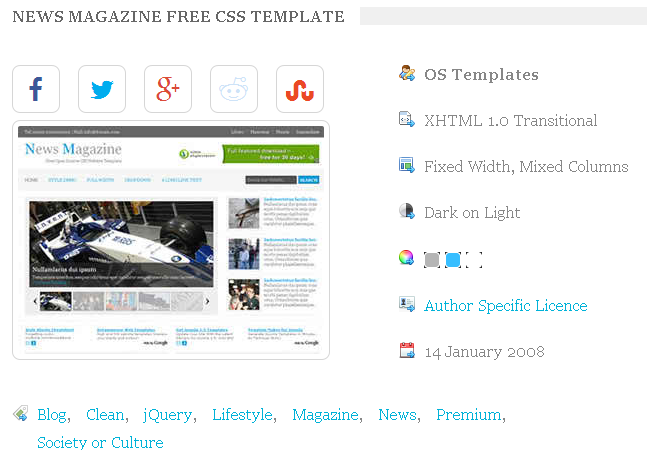 free blogger website templates
