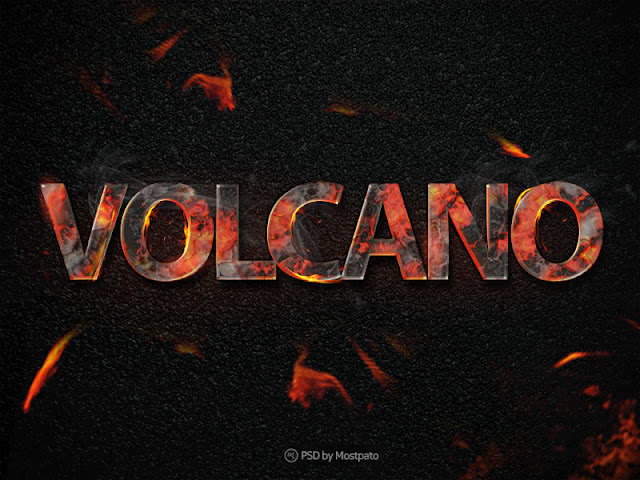 Psd volcano fire - Text Effect Free Download | Freebies PSD