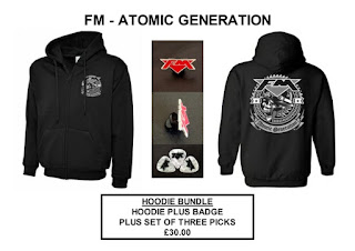 FM - Atomic Generation - merchandise bundle - hoodie - badge - picks