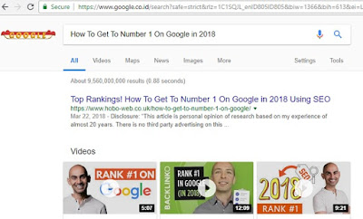 How To Get To Number 1 On Google in 2018
