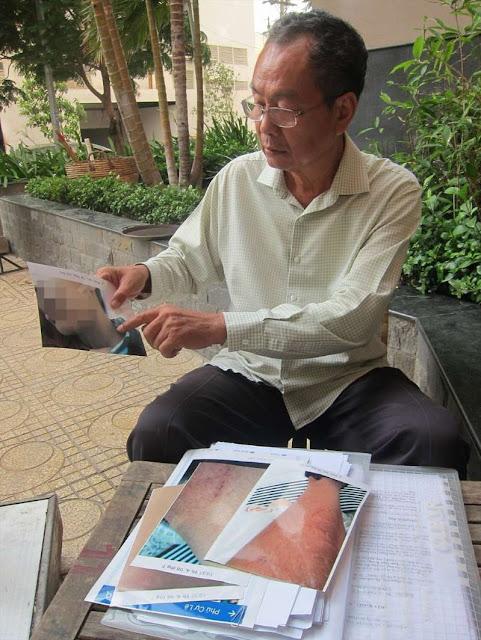 Được Lao Dong cung cấp Ông Phạm Văn Tứ - cha nạn nhân P.T.T - quyết tâm tố giác kẻ phạm tội trong suốt nhiều tháng qua. Ảnh: V.C