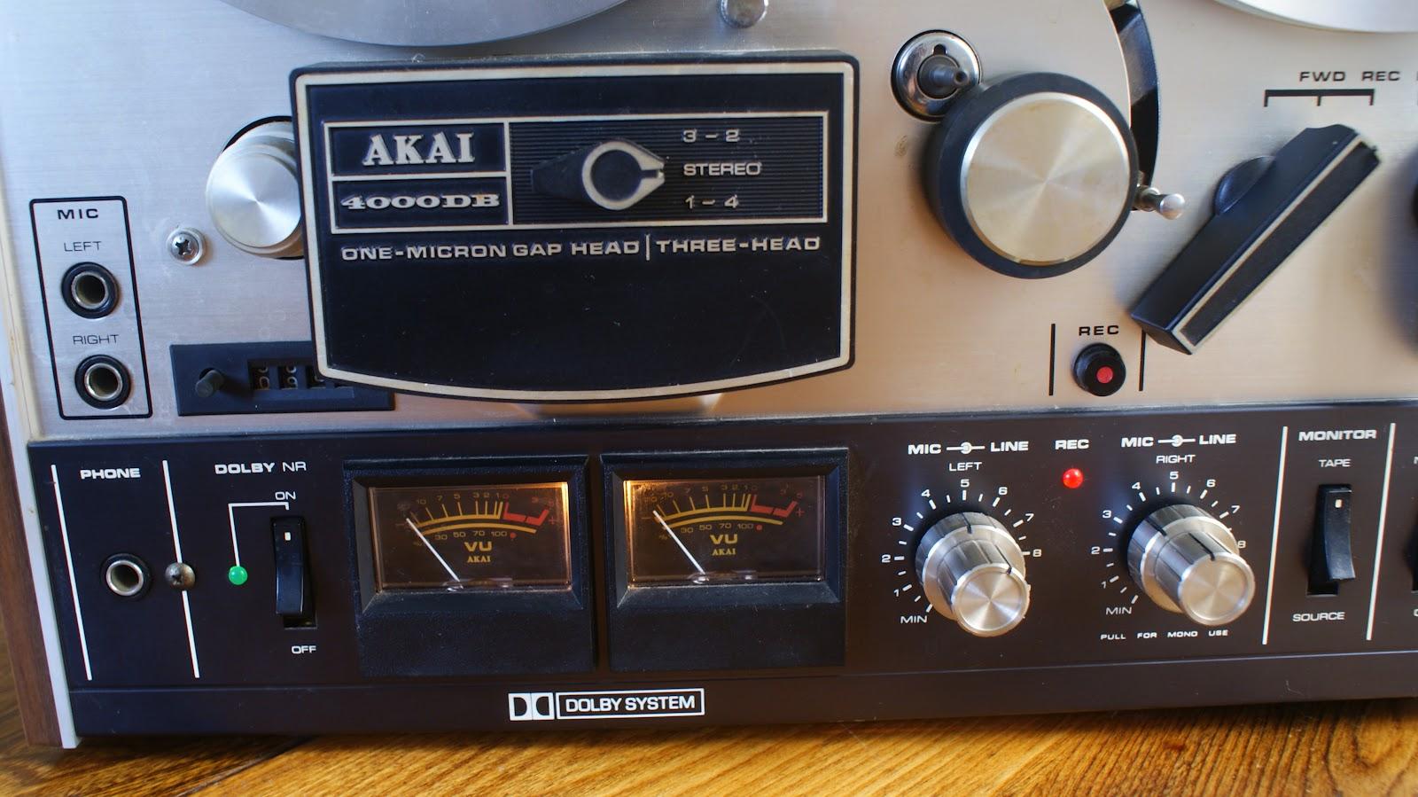 Vintage Sound Akai 4000db Reel To Reel