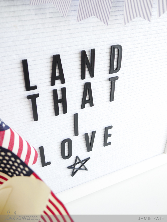 Land That I Love Heidi Swapp Letterboard Styling by Jamie Pate | @jamiepate for @heidiswapp