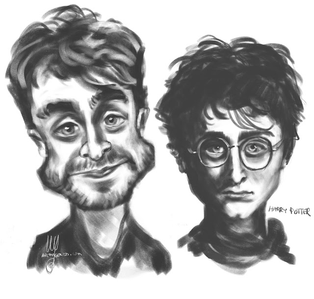 Daniel Radcliffe/Harry Potter caricature by Artmagenta